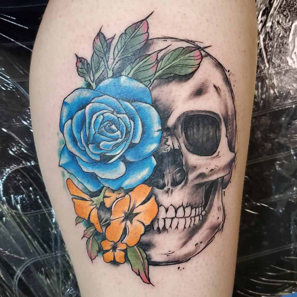 Top 81 Best Skull And Rose Tattoo Ideas 2020 Inspiration Guide Next Luxury