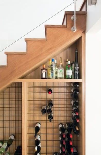 Top 70 Best Under Stairs Ideas Storage Designs | Bar Under Stairs Design | Stair Storage | Basement Remodeling | Floating Shelves | Space | Escaleras