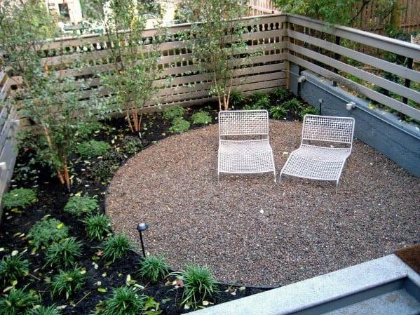 Small Backyard Design Ideas For Circle Gravel Patio