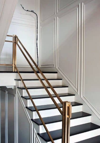 Top 70 Best Stair Railing Ideas Indoor Staircase Designs   Latest Staircase Railing Designs   Diy Modern   Handrail   Indian Style   Wrought Iron   Simple 2Nd Floor Railing Wood Stairs Iron Railing Design
