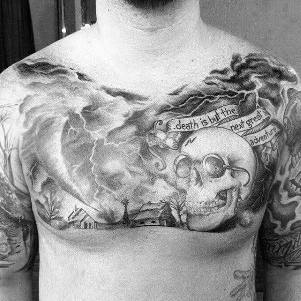 Black And White Hurricane Tattoo