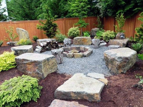 top 50 best fire pit landscaping ideas