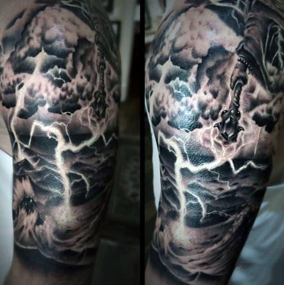 60 Lightning Tattoo Designs For Men - High Voltage Ideas