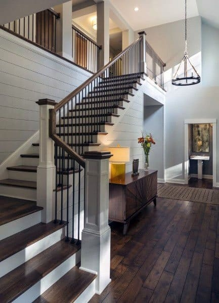 Top 70 Best Stair Railing Ideas Indoor Staircase Designs   Modern Wood Stair Railing   Wrought Iron   Staircase Railing   Modern Style   Deck   Horizontal Bar