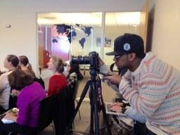 Lunch Presentation: Johan, our film media lab intern, filming