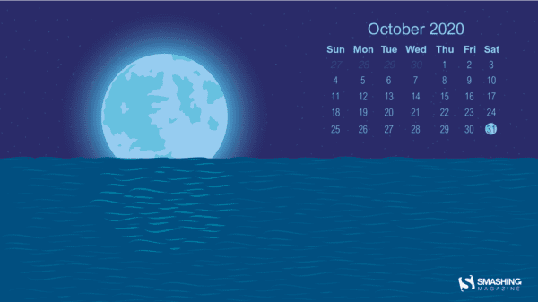 oct 20 blue moon full 600x337 - Download Smashing Magazine Desktop Wallpaper October 2020 Windows 10 Theme
