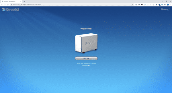 2021 01 24 15 47 25 Synology Web Assistant 600x326 - How To Setup Synology NAS from Scratch on Windows