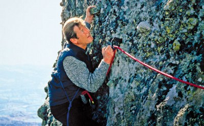 Roger Moore climbs to great heights in For Your Eyes Only