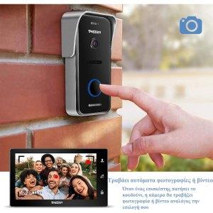TMEZON Σύστημα έγχρωμης θυροτηλεόρασης με σύστημα Wi-Fi