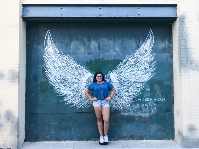 Wing mural at downtown deland historic district next stop adventures