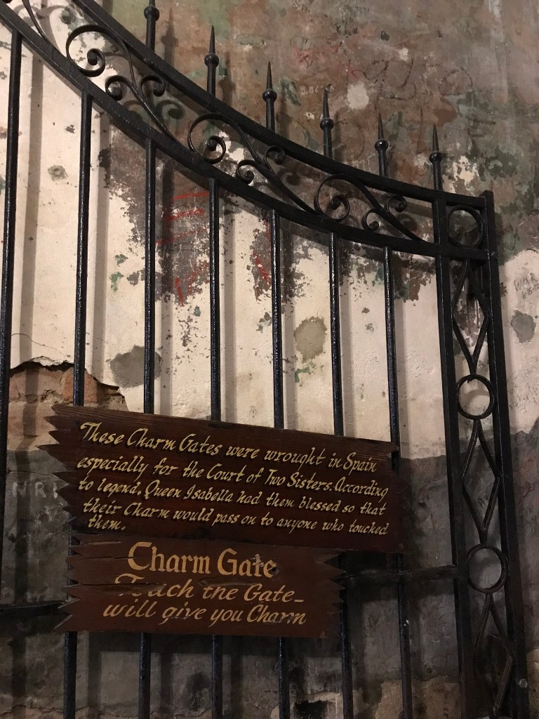 the charm gate of the court of two sisters in New Orleans