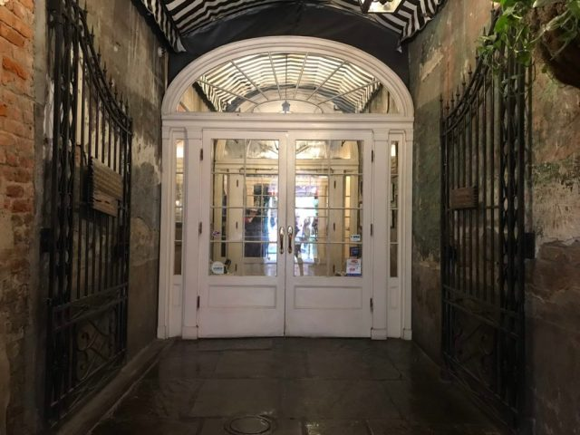 the charm gate at the court of two sisters in New Orleans