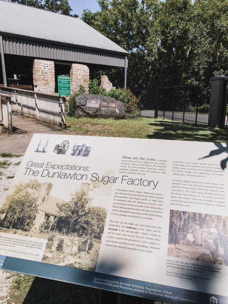 dunlawton sugar mill ruins