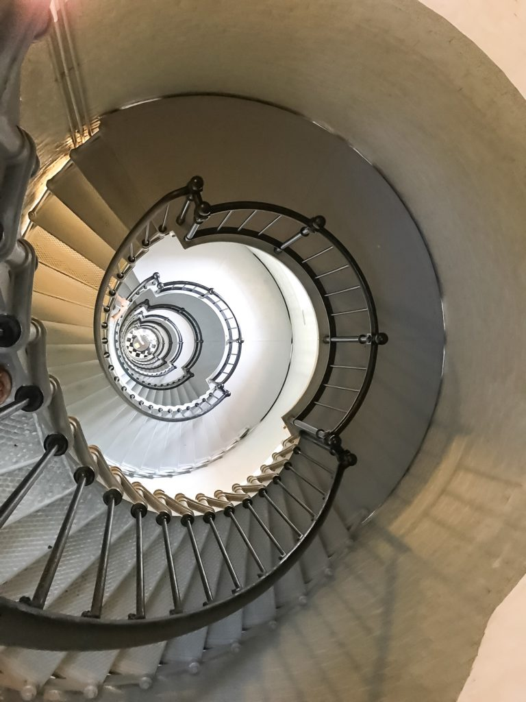 staircase inside Ponce de Leon lighthouse