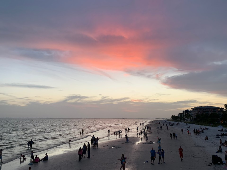 sunset views at Fort Myers beach