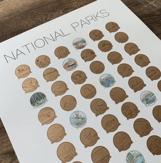 national parks scratch-off maps