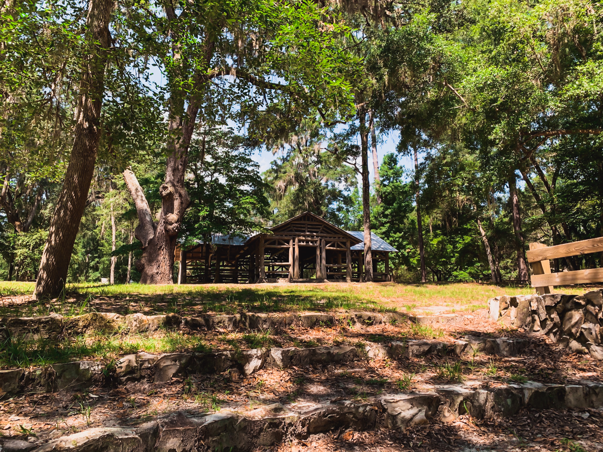 O'leno state park historic site in high springs