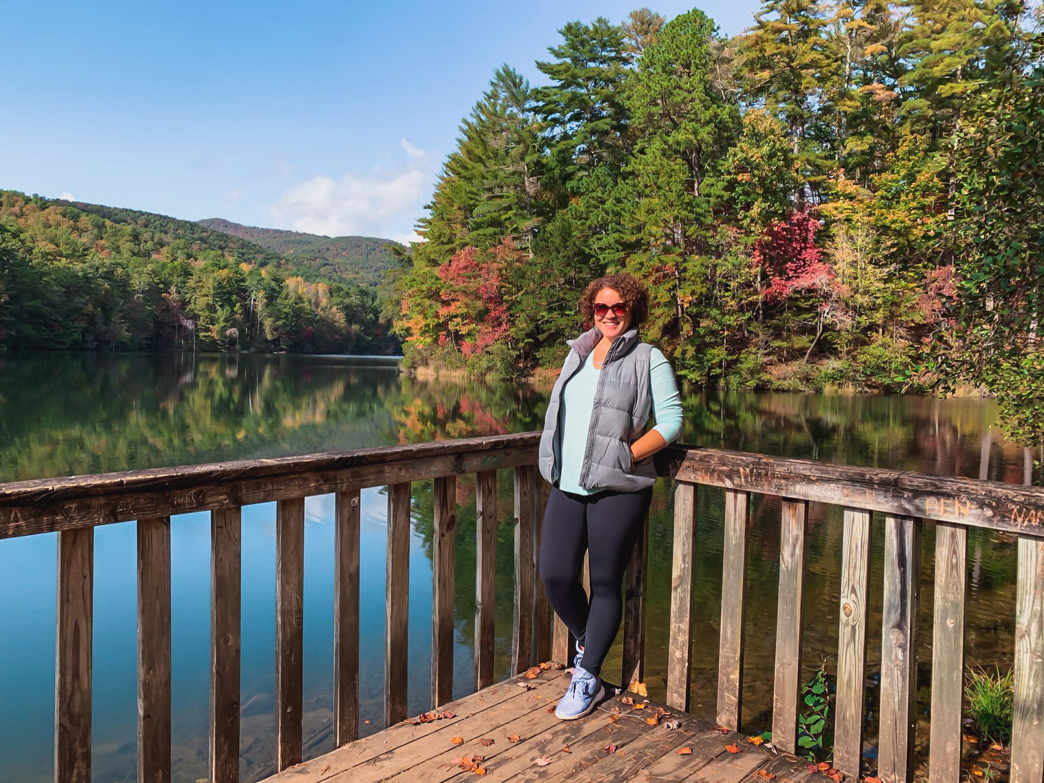 Unicoi state park hiking in Helen Georgia