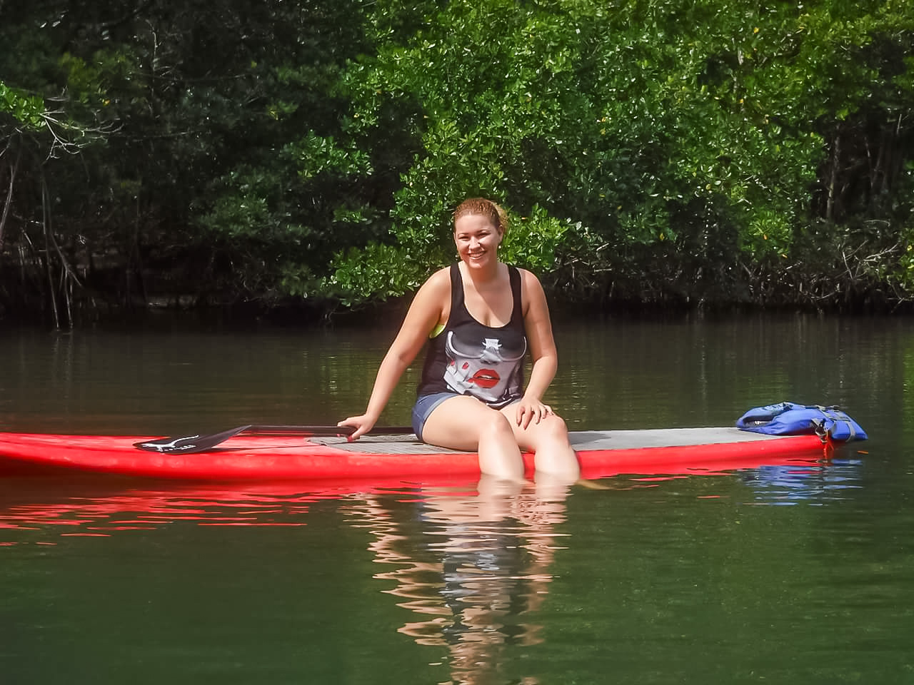 florida paddle boarding on the Indian river lagoon