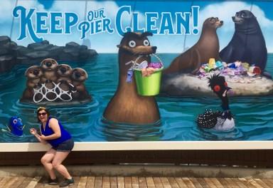 Instagram-Worthy Photo Walls: Finding Dory - Pixar Pier
