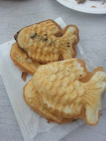 Taiyaki - red bean, nutella, and bavarian cream filling