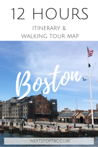 Pin for later: Boston - 12h itinerary and walking tour map