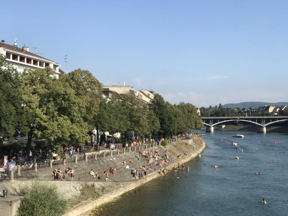 Cycling Rhone River