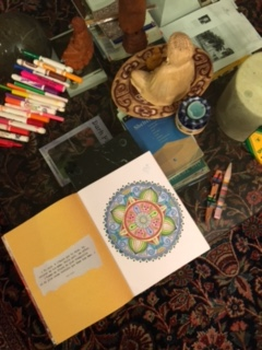 My mandala all colored in