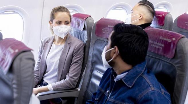 Kans op coronabesmetting in het vliegtuig is klein