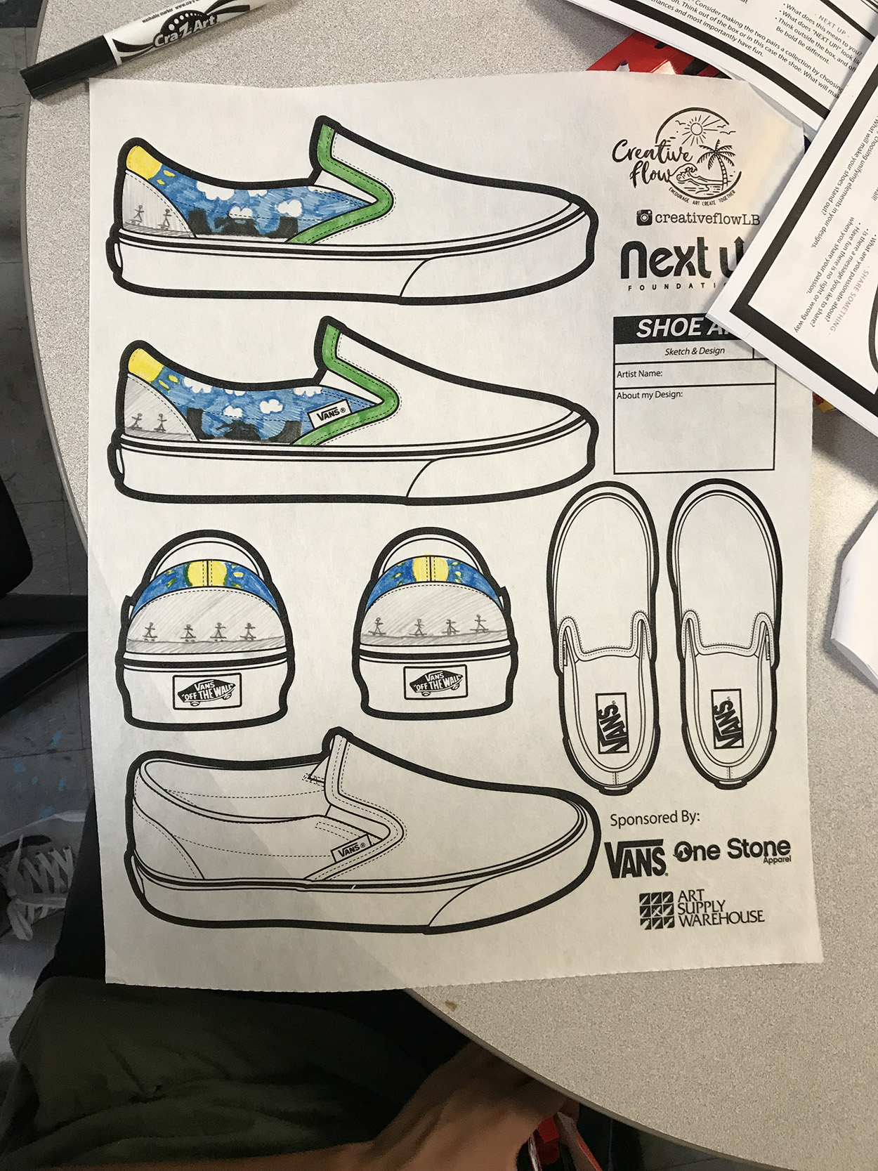 Shoe Sketch Amp Design Workshop With Creative Flow Next Up