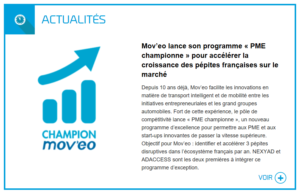Mov'eo consacre Nexyad PME Championne