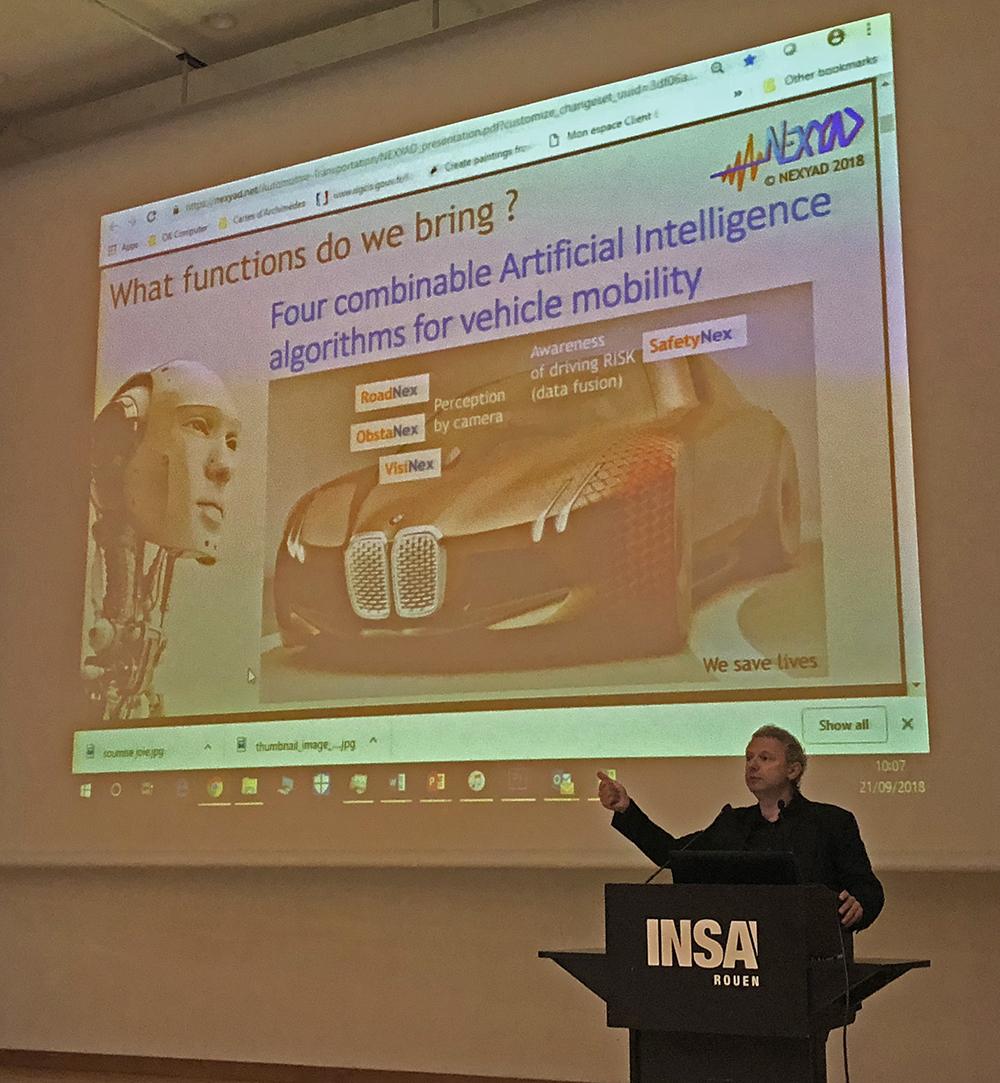 Presentation Nexyad à l'INSA Rouen