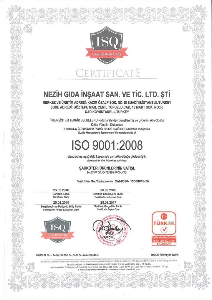 ISQ Sertifika – 1
