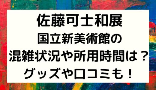 佐藤可士和展|国立新美術館の混雑状況や所用時間は?グッズや口コミも