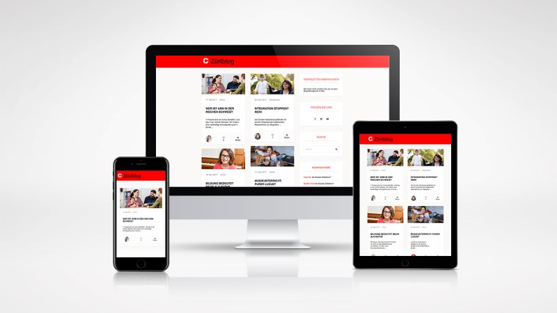 Webdesign caritas züriblog