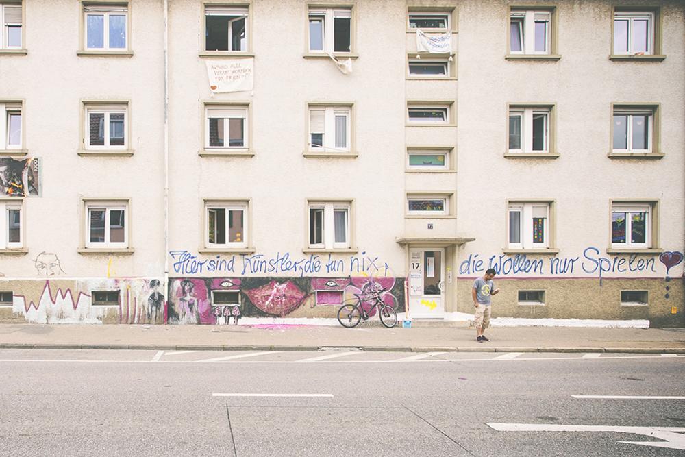 Fassade Baugenossenschaft Hegau - arte romeias