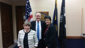 Dana Ard & Erin Olsen with Sen. Mike Krappo