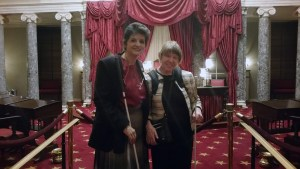 Erin Olsen & Dana Ard in the Old Senate Chambers during their tour of the Capitol in D.C.