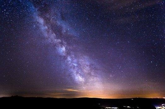 ciel étoilé pour relaxation d'hiver
