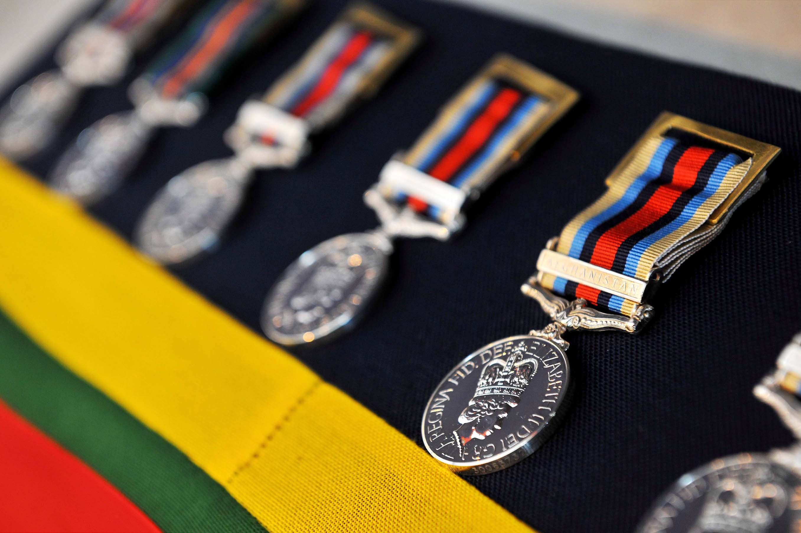 Row of medals.