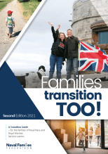Front cover of NFF Transition Guide - for RN/RM Service leavers and their families. Full guide can be found on our website.