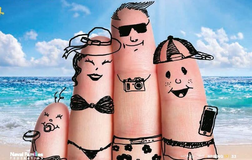 Family of fingers at the beach.