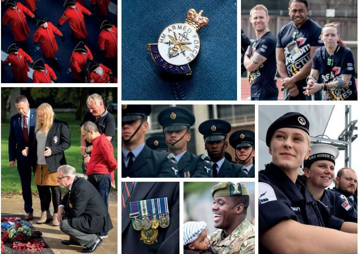 Collage of service men and women both in and out of uniform.
