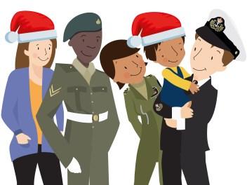 Navy Family Illustration