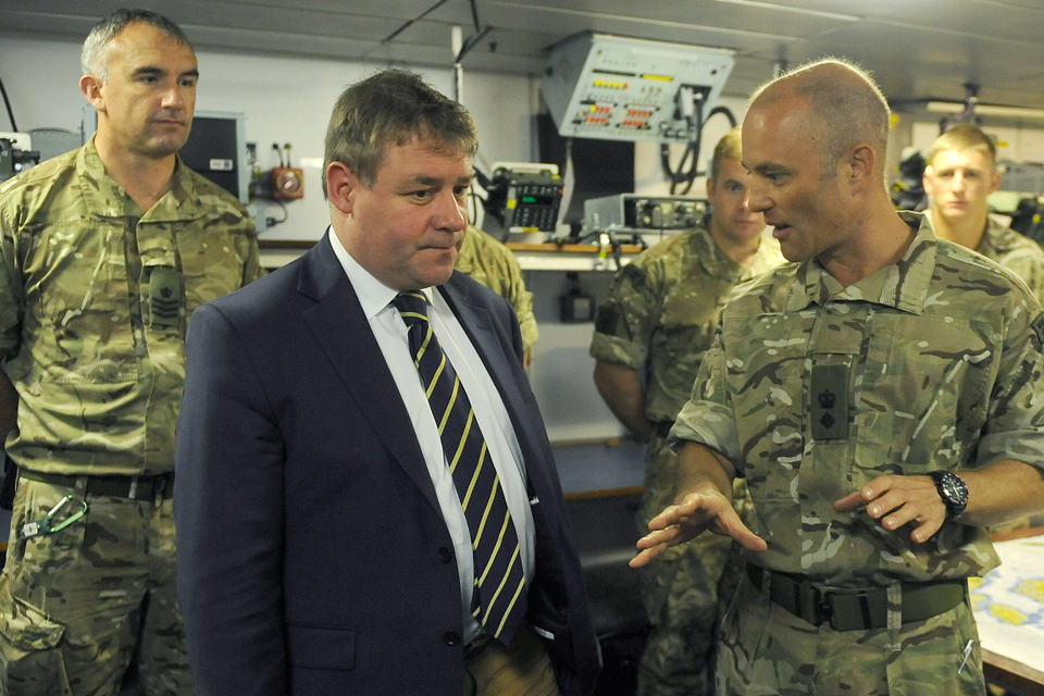 MP talking to service personnel
