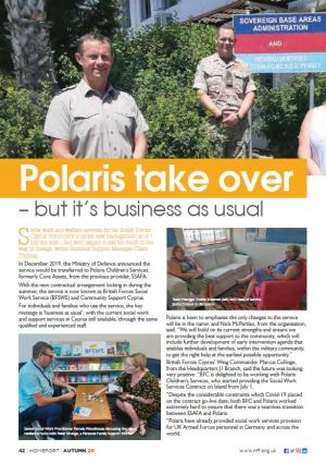 Screenshot of Homeport article (Autumn 2020) - Polaris take over - but it's business as usual