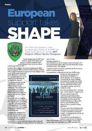 Homeport (Summer 20) article about SHAPE