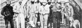 This image shows Gamekeepers and stalkers at Guisachan.