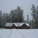 A wintery morning at the hostel!