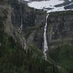closeup of the falls